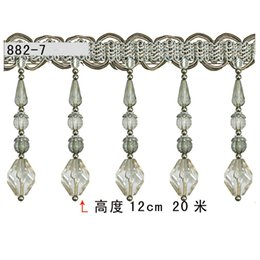 Wholesale Authentic European promotional curtain accessories lace curtains beads lace roll meters CM