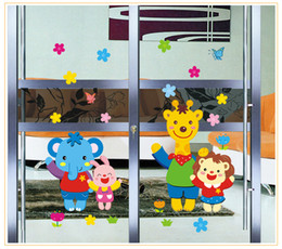 2017 Hot Selling Picotee PVC Transparent Film Animal Home Child Real Wall Stickers Glass Window Stickers