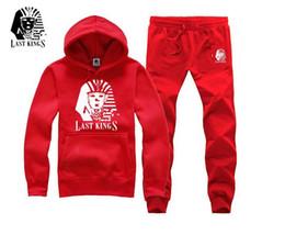 s-5xl A6650 MEN free shippong o-neck Hottest last kings hoodie +pants Men's Sweatshirts lastkings hip hop Tracksuits