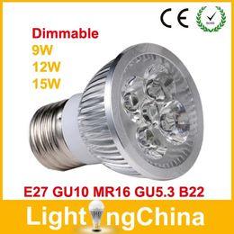 Wholesale Promo LED Bulbs E27 MR16 GU5 GU10 LED Dimmable W W W AC90 V Warm White Pure White Cool White