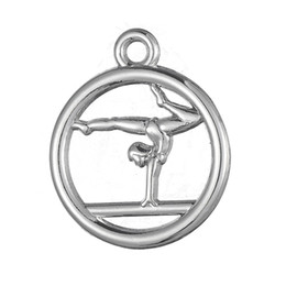 Wholesale New Fashion Easy to diy gymnastics circle sporty charm jewelry making fit for necklace or bracelet