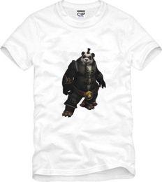 Wholesale DOTA World Warcraft Panda Printed Mens Men T Shirt Tshirt Fashion New Short Sleeve O Neck Cotton T shirt Tee