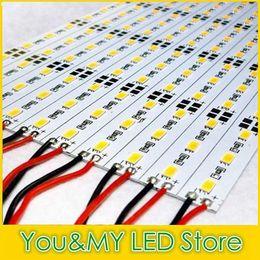 Wholesale 5630 Hard LED Strip LEDs Cool Warm White Light Rigid Strip DC V Aluminium Profile Shell Indoor Decoration Free DHL