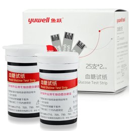Wholesale yuwell diabetic test strips yuyue blood glucose test strips free glucometer blood sugar test strips