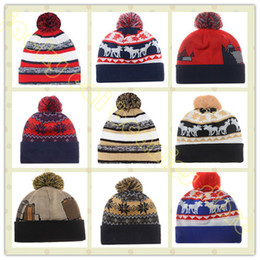 Wholesale New England Beanies Hat For Men Cool Patriot American Football Knitted Hat Sport Skullies Warm Women Winter Hat