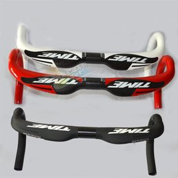 Wholesale 2014 Newest TIME full carbon fiber road bicycle handlebar carbon cycling parts bike Handlebars mm
