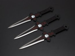 Wholesale 7 inch Hellseeker Throwing Knives Fixed blade knife Throwing Kits camping gear Tactical knife knives with Nylon Case