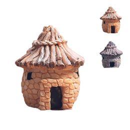 Wholesale Top quality resin crafts retro house design colors Brick houses DIY Micro decoration for home desk J1161