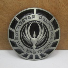 Wholesale BuckleHome battlestar galactica belt Buckle with pewter finish FP with continous stock
