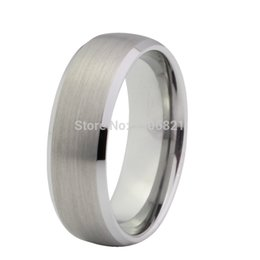 Wholesale MM best seller tungsten ring with brushed and beveled finish tungsten men wedding band