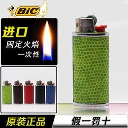 Wholesale France encendedor gas bic lighter Inflatable butane lighter Grinding wheel men cigarette lighter
