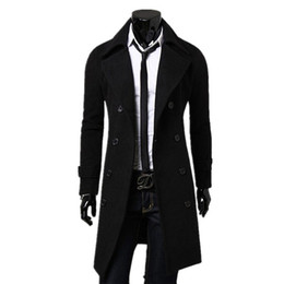 Fall-2015 Hot Sale New Fashion trench coat men Long Coat Suit Men Wool Coat Men Overcoat Outerwear