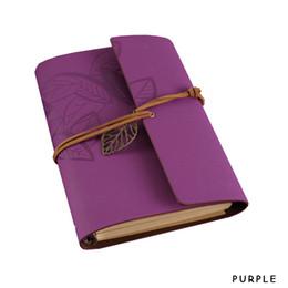 Vintage faux cuir Notepad Notebook Journal Retro Artisanat Spiral Diary Book Revues Papeterie 10colors Drop Shipping 064847-PP craft notepad promotion à partir de craft bloc-notes fournisseurs