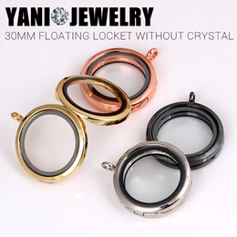 Round Magnet Magnetic Photo Memory Locket Pendant 30mm Floating Locket Necklaces without Chain Mix Colors Free Shipping