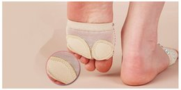 Wholesale Professional belly dance Ballet dance gymnastics mat toe thong dance shoe foot protective shoes