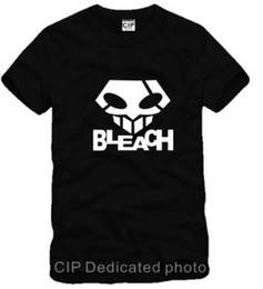 Free shipping cotton tee shirt japanese anime bleach logo printed tshirt short-sleeve t-shirts bleach cosplay 100% cotton 6 color