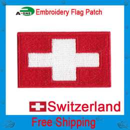 """Switzerland flag patch embroidery patches iron on embroidery flag patches logos 2"""" wide free shipping iron patch for kids badge on clothes d"""