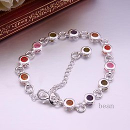 Wholesale Jewelry Bracelets Bangles Sterling Silver Jewelry Loom Bands Rubber Bands For Loom Bracelets Sweet Lady Color Focus