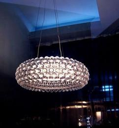 Wholesale Foscarini Caboche ball Pendant Lamp LED Chandelier light by Patricia Urquiola Eliana Gerotto Clear Trasparent Acrylic Ball cm cm cm