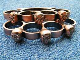 Wholesale Cool Skull Brass knuckles Knuckle dusters Bronze or Black aluminum alloy