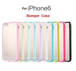Wholesale For Iphone Case Iphone Plus Mat PC TPU Soft Clear Transparent Gel Cover Cases For iphone S S Galaxy S6 S5 S4 Not Bumper Case