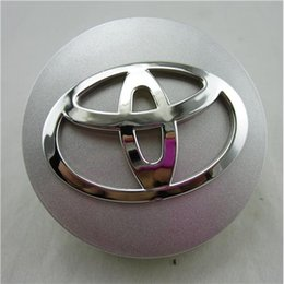 Wholesale Car Badges For Toyota Carola Highlander RAV4 Wheel Centre Cap Logos mm Automobile Wheel Hubs Emblem Badges Kits