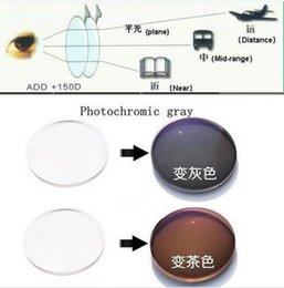 Wholesale 1 thin Progressive Photochromic Photogrey Photobrown Optical Resin Lens