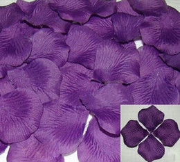 Wholesale Hot sell New Purple Colors Pretty Fabric Flower Rose Petals Wedding Party Decoration
