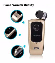 Wholesale Professional New Version FineBlue F920 Wireless Bluetooth Headset Calls Remind Vibration Wear Clip Best Quality For Iphone Samsung HTC