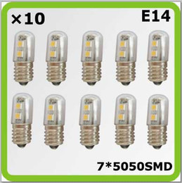 Wholesale Wholesales V V V E14 W SMD mini led bulbs bombilla LED blanco for freezer refrigerator sewing machine
