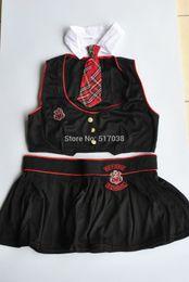 151020 Cheeky Class President Teachers School Girl Uniform Set Sexy Women's Halloween costume lingerie for night club wear party dress
