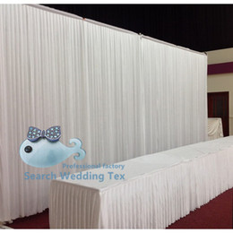 Wholesale Cheapest White Color Wedding Backdrop Curtain Stage Background
