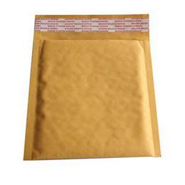 Kraft enveloppe jaune en Ligne-Universal Fashion Kraft Bubble Sac enveloppes matelassées Enveloppes Expédition Sacs jaunes 10X 160 * 160 40mm