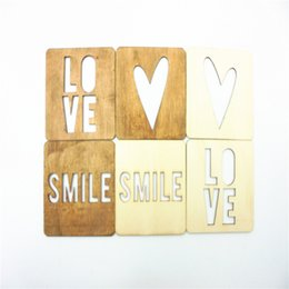 Wholesale 2016 New Crafts items Wood Shape Wood Crafts Wooden Veneer Unfinished natural crafts supplies Decoration ornaments