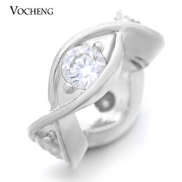 Wholesale VOCHENG Endless Charms Brass Material Charm for mm Garden Bracelet Top Crystal Real Gold Plating Interchangeable Jewelry VC
