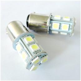 Super Bright 50pcs P21W 13 SMD 5050 13 Led Turn Signal Brake Tail Light 13SMD Car LED Bulbs