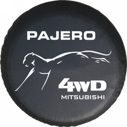 Wholesale Factory direct sale Mitsubishi pajero car modified PU spare tire cover custom off road spare tire cover