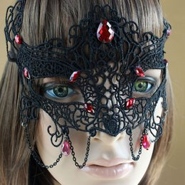 Black Sexy Lady Lace Party Masks, Cutout Eye Masks for Masquerade Party Fancy nightclub Party Sex products WQ525