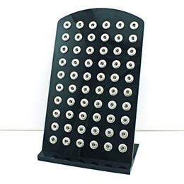 Wholesale Brand New mm Snap Button Display Fashion High Quality Black Acrylic Interchangeable Jewelry Case Holders Board