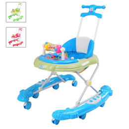 Wholesale Baby Walkers with Wheels Durable Foldable Multifunctional Baby Walker Stroller Adjustable Height Stroller JN0044
