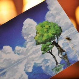 Wholesale-[Afternoon garden] empty realm Blue sky into two hand-painted postcards^greeting card