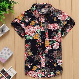 Wholesale new arrival cotton floral shirt hawaiian shirt aloha shirt for boy B1501