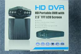 Wholesale 2 cámara de la cámara del registrador del coche DVR de las cámaras de la leva del coche cámara negra del cuadro H198 de la versión de la noche Cámara de la rociada del registrador video IR LED
