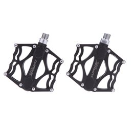 Wholesale New Pair Lightweight Aluminium Alloy Cycling Pedals Mountain Road MTB Bike Bicycle BMX Pedals Sealed Bearing Flat Platforms Y0303