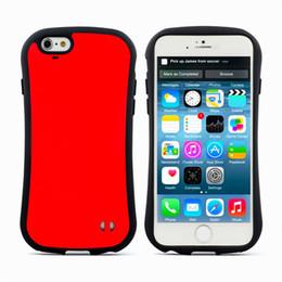 Wholesale iPhone iface del caso de la cubierta prueba del choque híbrido TPU Shell Armor cubierta de la caja del gel de PC para el iphone del color del caramelo de la cintura muy pequeña