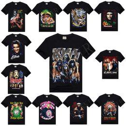 Wholesale w1215 RockSir Cotton T shirt wrestlers John Guns N Roses Slipknot Che Guevara baby Rasta Printed rock D T Shirt For Men Camisa