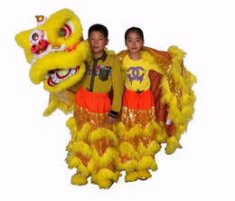 d high quality pur Lion Dance Costume made of pure wool Southern Lion kid size chinese Folk costume lion mascot costume