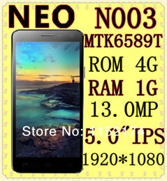 Wholesale Hot sale new inch Neo N003 smartphone MT6589t Quad Core px Android dual camera mp mp GPS