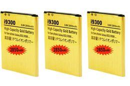 Wholesale 3pcs mAh EB L1G6LLU Gold Battery for Samsung Galaxy S3 SIII I9300 I535 I747 L710 T999 Galaxy Victory G LTE L300 Bateria Batteries