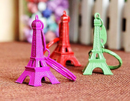 Wholesale NEW Hot fashion Cartoon Game movie Key Candy color Eiffel Tower alloy keychain wedding favors keychain cc61